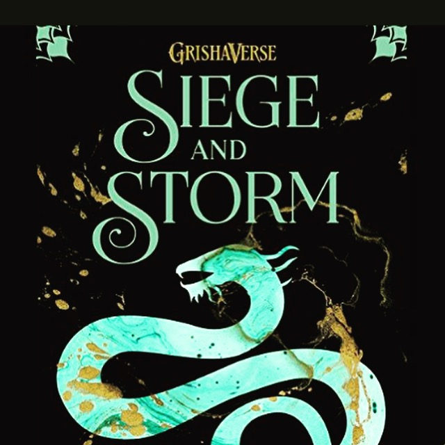 Sea dragon on the cover of Siege and Storm