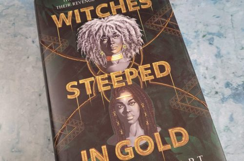 book Witches Steeped in Gold on a bluish grey background