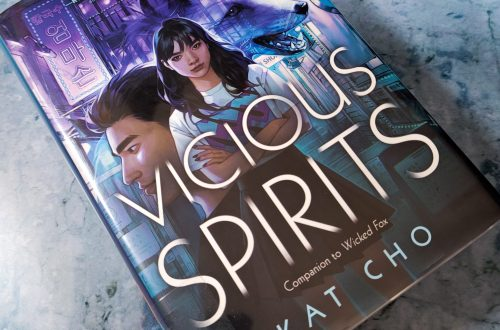 book, Vicious Spirits on a blueish gray background